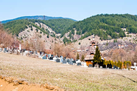 Cemetery in Serbian village in Zlatibor mountains