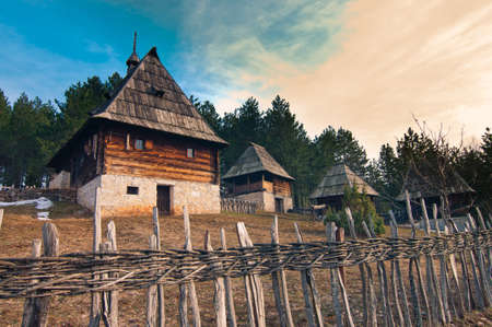 Ethno village Sirogojno in Zlatibor surroundings, Serbia. photo