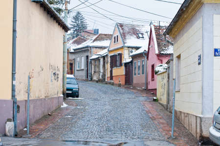 without people: Zemun district of Belgrade. Street without people.