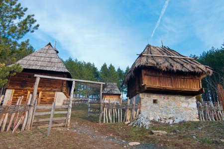 Ethno village Sirogojno in Zlatibor. Native Serbian yard Stock Photo - 19097630