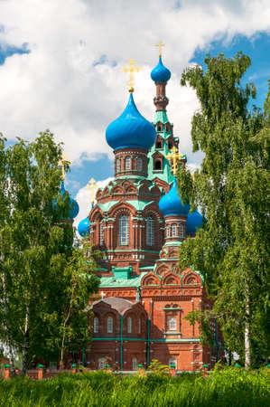 xx century: Orthodox church by Pokrov God mother in Cherkizovo village of Moscow region.