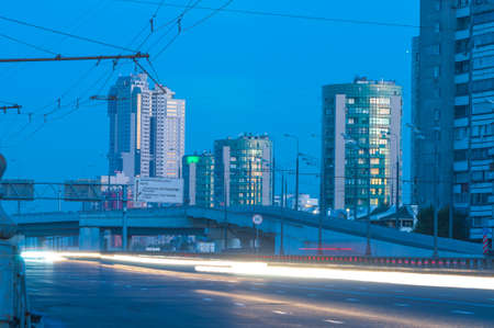Zvenigirod shosse, Moscow west highway at morning photo