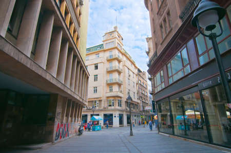 Belgrade center. Street of Chika Ljubina near of Knez Mihaila street. Stock Photo - 22905781