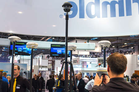 geodetic: GNSS receivers by Trimble at exhibition stand
