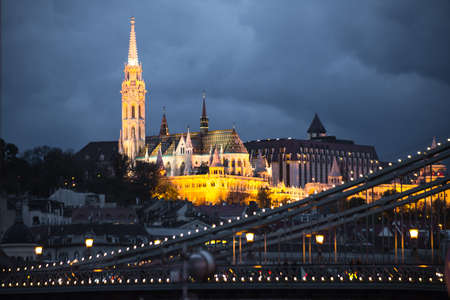Saint Matthias church in the night. Budapest. Stock Photo - 23732059