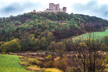 middleages: Csesznek castle in central Hungary. Esterhazy residence till WWII. Stock Photo
