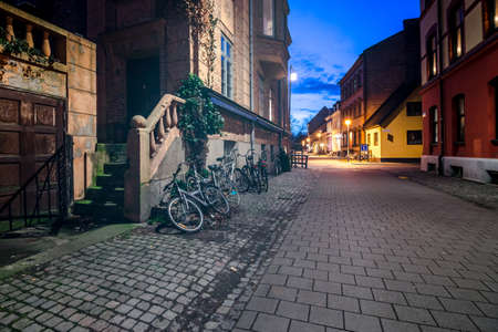 Crossroad of the streets in old part of Malmo, Sweden photo