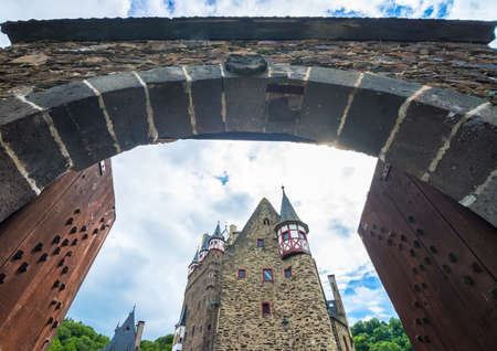middleages: ELTZ, GERMANY  - 12 May 2014  Gates to Eltz castle on 12 May in Eltz.