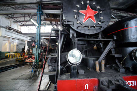 MOSCOW  - 08 January 2015  Old steam locomotive repairing shed on 08 January 2015 in Moscow