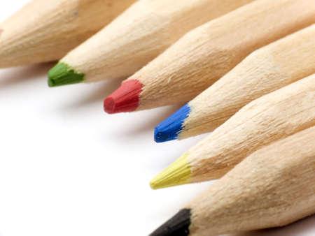 macroshot: Macroshot of some pencil tips