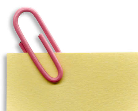 Paperclip on a note photo