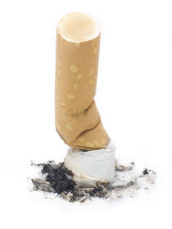 decease: Cigarette But on a white background depictiong unhealthy behaviour