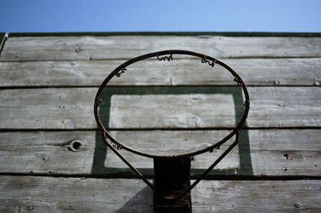 backboard: old basketball backboard.