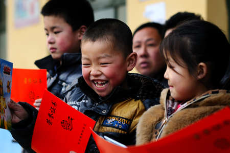 commendation: The school held a commendation meeting, presented the award certificates and prizes to the outstanding achievements of students.The picture shows the the prizes scene, award-winning students are very happy and proud!Xingtai City, Hebei Province, China, Ma Editorial