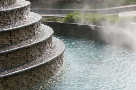sulphur: natural hot springs. Stock Photo