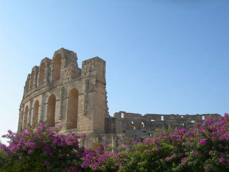 In Tunisia in the city of El Djem there is the second-large Colosseum in the world photo