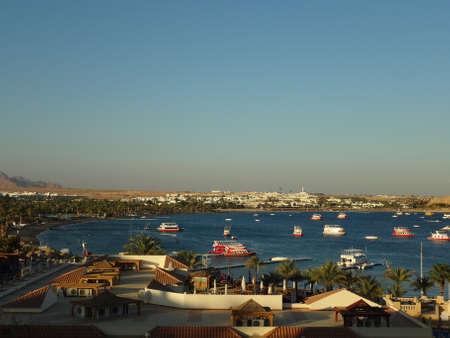 naama bay: Morning in Naama Bay, Egypt Stock Photo