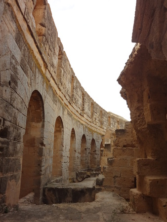 The Colosseum in the city of El Djem Stock Photo - 30467977