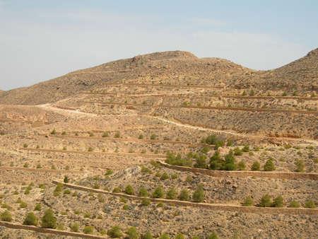 Lunar landscape in Matmat, Tunisia photo