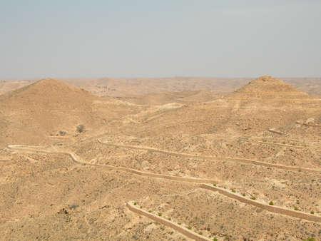 terracing: Lunar landscape in Matmat, Tunisia