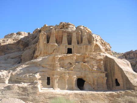 The obelisk tomb in Petra, Jordan