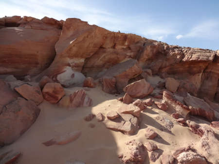 mountin: Color canyon in Egypt, Sinai Stock Photo
