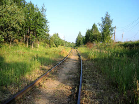 cross ties: The railway track leaves afar