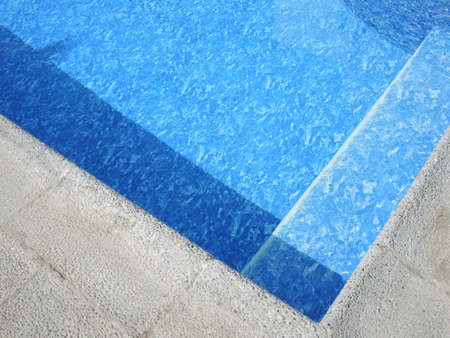 edge: The edge of the pool Stock Photo