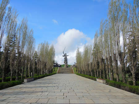 Mamayev Kurgan in Stalingrad (Volgograd)