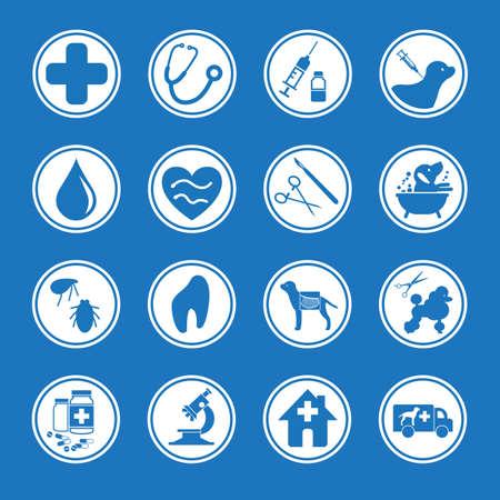 veterinarian symbol: Icona per la clinica degli animali e toelettatura