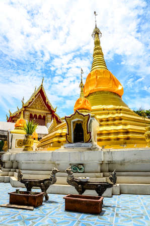 Pagodas and temples with beautiful blue sky Stock Photo - 18344229