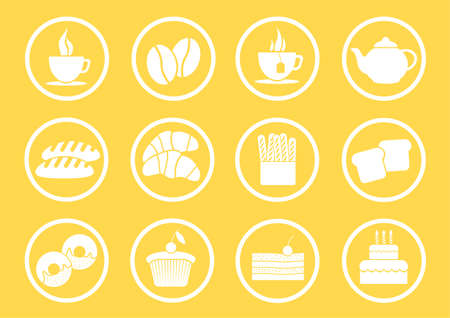 Icon for bakery coffee and tea Vector