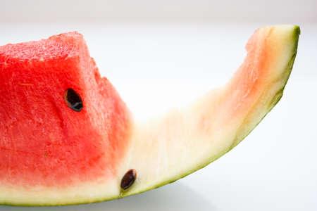 Watermelon flesh was eaten out