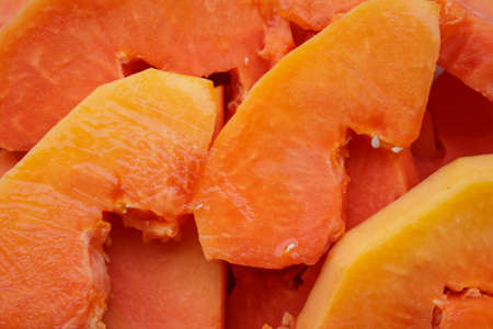 excrete: Ripe papaya peel it and eat