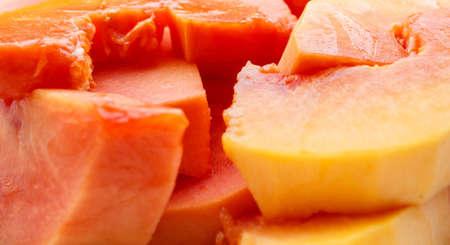 excrete: Ripe papaya peel it and eat