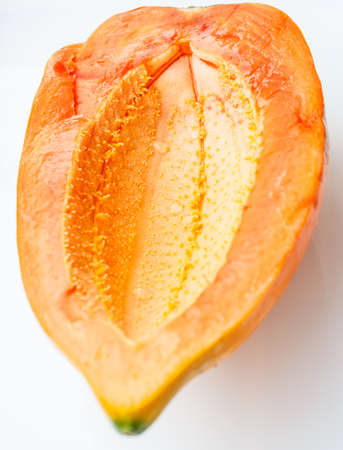 Ripe papaya peel it and eat Stock Photo - 18691547