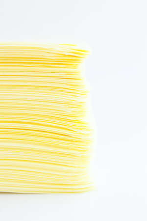 Yellow paper stacked together