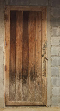 Old wooden door at the kitchen door Stock Photo - 19162886