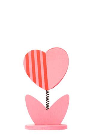 Heart tree shape paper clip Stock Photo