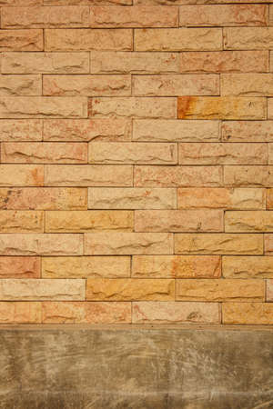 The brick wall with tile Stock Photo