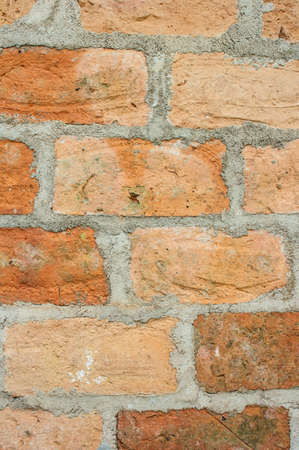 The brick wall are overlaid by a mortar as a connector