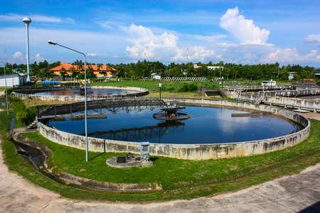 sedimentation: Sedimentation tank in wastewater treatment Stock Photo