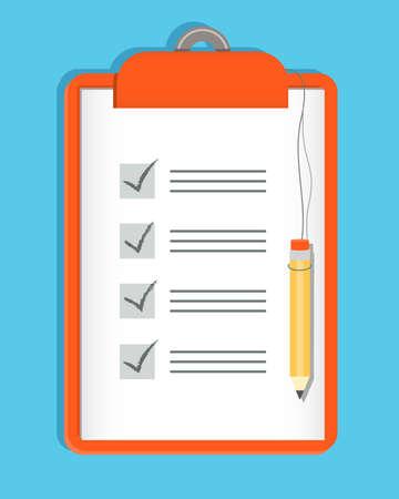 Clipboard Checklist en Potlood