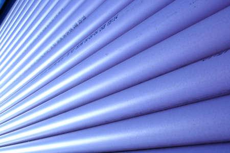 drenaggio: tubi di drenaggio in via di costruzione di vista  Archivio Fotografico