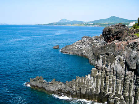 Rock Formation on Jeju Island photo