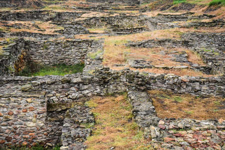 Walls of the ancient city, archaeological excavations. Ancient city. The walls are made of stone. Reklamní fotografie