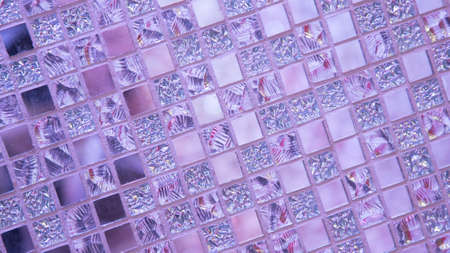 Background, texture in pink colors, with mirror elements.
