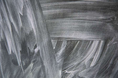 Texture of the chalkboard. Blue shades, abstract drawing.