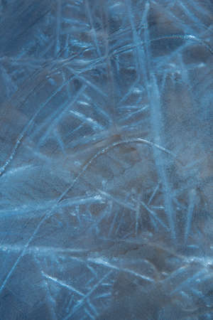 Ice structure. Abstract illustration in blue tones. Background, texture of frozen water. Frosty drawing on the window Stok Fotoğraf