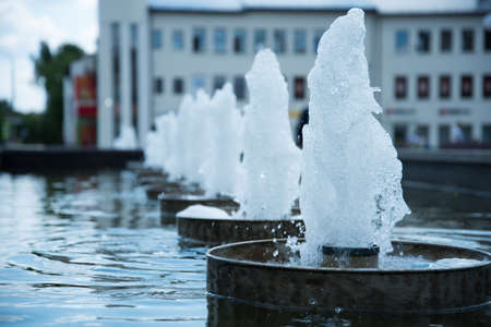 City fountain. Summer time of the year